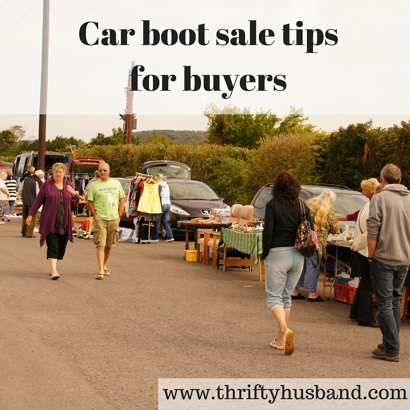 Car boot sales tips for buyers